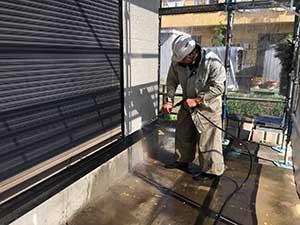 壁洗浄作業
