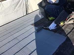 屋根下塗りアップ