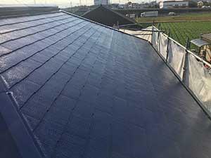 屋根中塗り終了