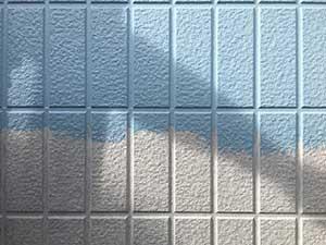 外壁中塗り 水色塗料
