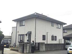 伊勢崎市三室町外壁屋根塗装施工前