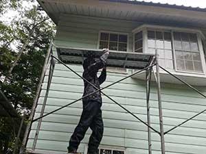 嬬恋村の別荘 外壁屋根塗装仮設足場
