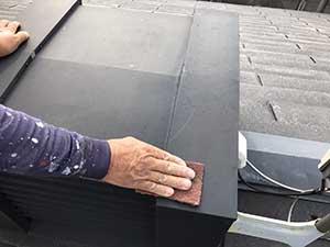 屋根棟鉄板ケレン