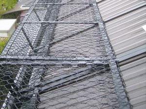 雪止め金具 金網型、フェンス型