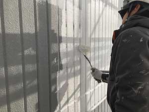 アパート 外壁下塗り