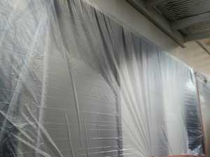 吉岡町 外壁塗装前養生