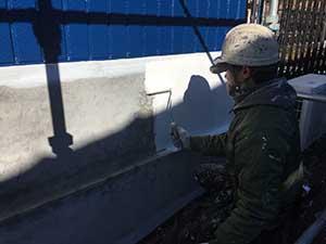 高崎市 アパート 基礎の下塗りシーラー