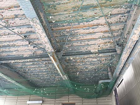 桐生市 ガレージ駐車場天井塗装前