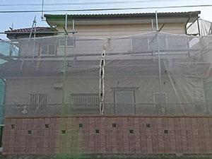 伊勢崎市 外壁塗装 足場設置