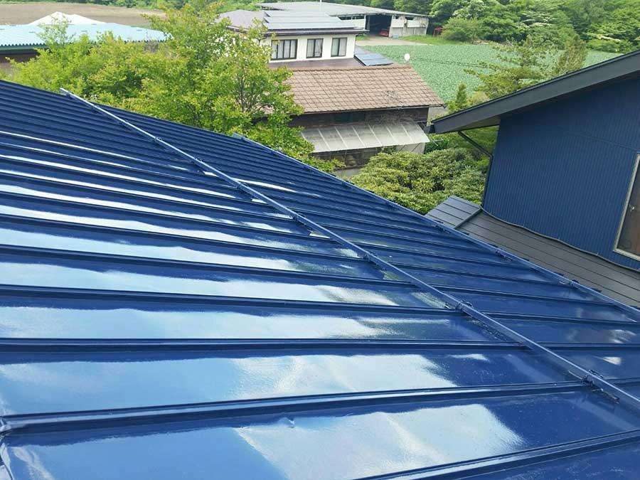 吾妻郡嬬恋村 倉庫兼ガレージ屋根塗装