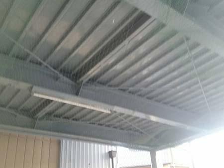 桐生市 ガレージ駐車場天井 上塗り後