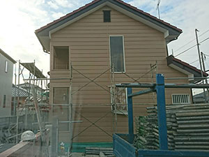 伊勢崎市 外壁塗装工事 足場片付け