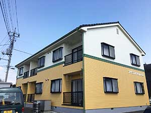 高崎市沖町アパート外壁塗装工事終了