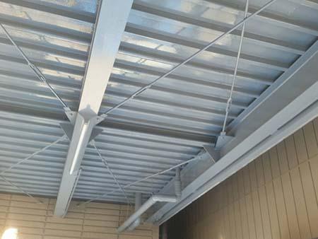 桐生市 ガレージ駐車場天井塗装後