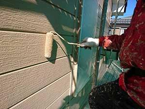 伊勢崎市 外壁塗装 上塗り