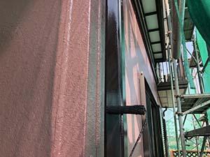 玉村町 竪樋、上塗り