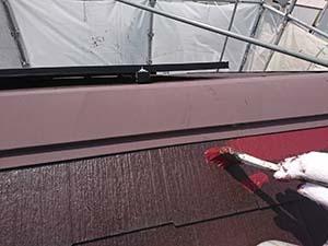 藤岡市 屋根上塗り1回目