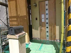 藤岡市 外壁塗装 養生