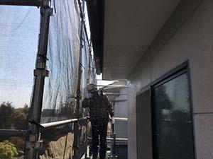 高崎市沖町アパート 外壁塗装 高圧洗浄