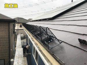 施工事例 太陽光パネル用雪止め スノートラス