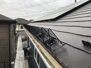 施工事例 ソーラーパネル用雪止め