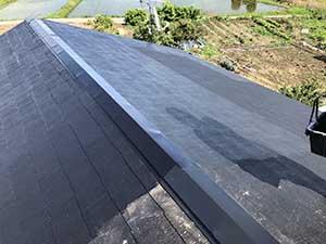 前橋市富士見町 屋根塗装 中塗り