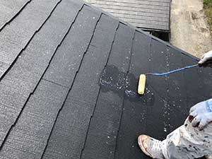 前橋市富士見町 屋根塗装 下塗り二回目