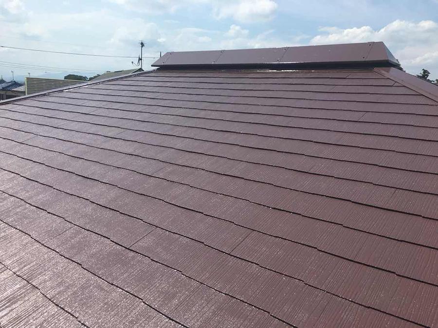 玉村町 コロニアル屋根塗装