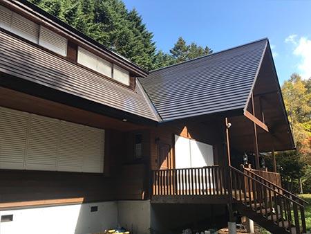 軽井沢町南ヶ丘 別荘外壁屋根塗装工事 施工後