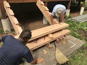 軽井沢南が丘 別荘 階段作り替え工事