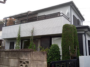 前橋市三俣町 外壁屋根塗装前