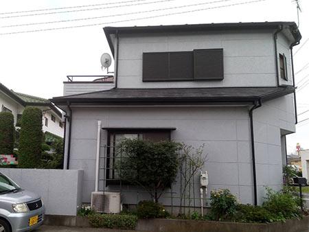 前橋市三俣町 外壁屋根塗装 ビフォー