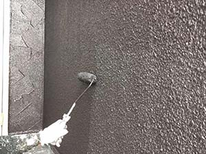 太田市 モルタル外壁塗装 外壁上塗り
