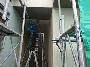 太田市 モルタル外壁塗装 高圧洗浄