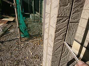 前橋市岩神町 外壁屋根塗装 コーキング撤去