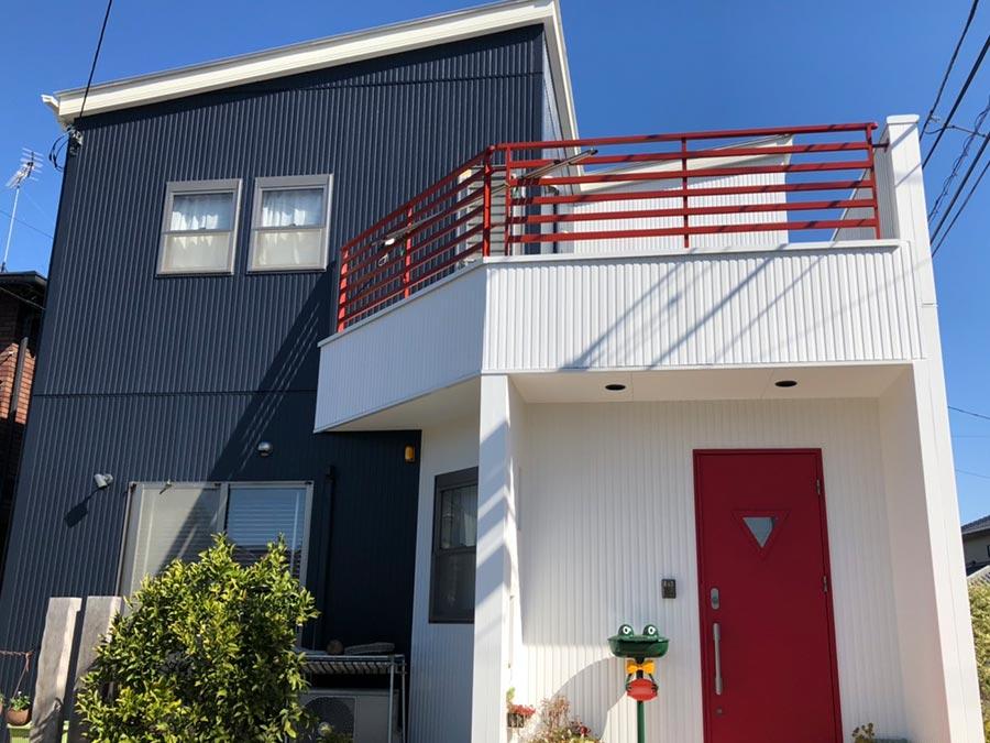 高崎市上中居町 屋根外壁塗装施工事例