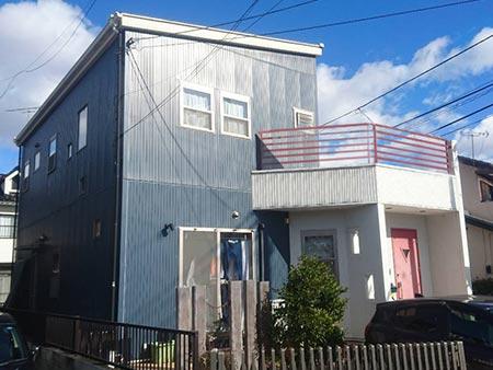 高崎市上中居町 屋根外壁塗装施工事前