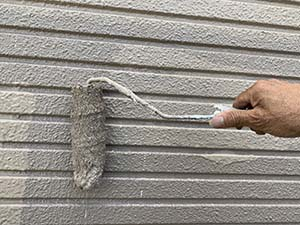 高崎市東町 外壁上塗り