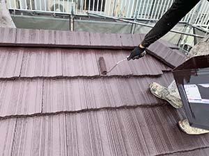 高崎市東町 屋根上塗り