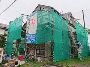 伊勢崎市茂呂町 外壁屋根塗装 足場解体
