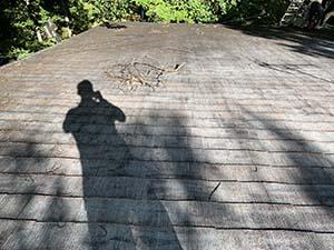 長野県軽井沢町別荘コロニアル屋根塗装