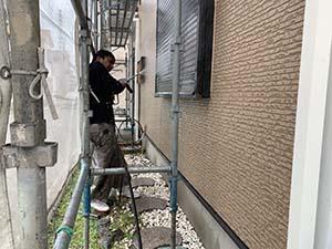 前橋市天川大島町 壁洗浄