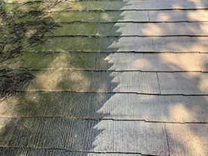 長野県軽井沢町別荘 コロニアル屋根洗浄