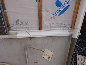 前橋市六供町 壁 水切り修理