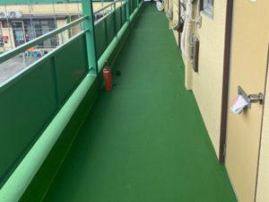 前橋市 マンション供用廊下塗装後