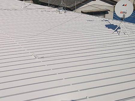 前橋市 マンション セッパン屋根塗装 サビ 塗装後