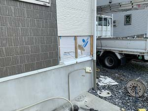 前橋市六供町 壁 防水シート補修