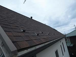 高崎市山名町 アスファルトシングル屋根の塗装前