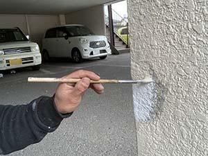 前橋市 駐車場柱補修 塗装
