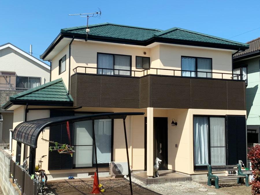 伊勢崎市富塚町 屋根外壁塗装 施工事例